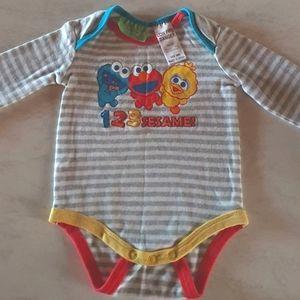 Size 000 Sesame Street onesie
